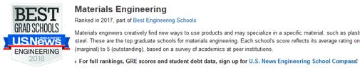 2018年USNEWS美国大学材料工程专业排名.png