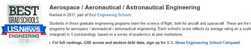 2018年USNEWS美国大学航空航天工程专业排名.png