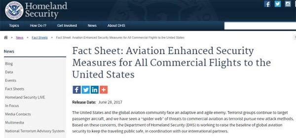 美国机场安检新政策