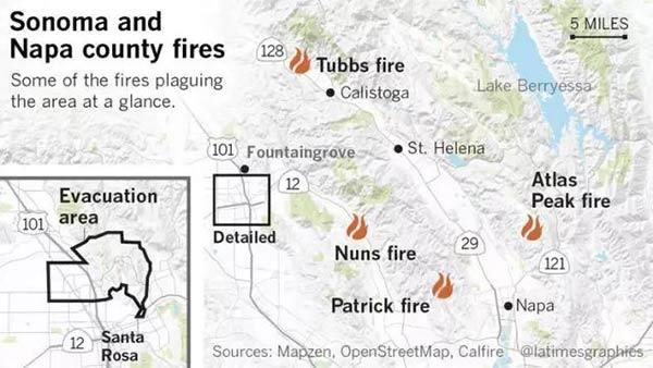 重要通知!北美加州Napa地区爆发大火,大部分学校面临停课!