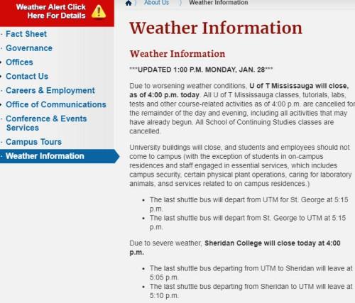 恭喜各位见证历史了,UTSG停课了!天降大雪啊!