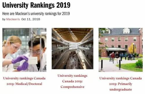 加拿大留学:2019麦考林大学排名及雅思成绩要求