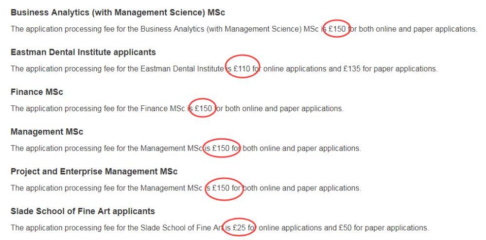 UCL申请费全英最高,盘点英国大学2019最新申请费!
