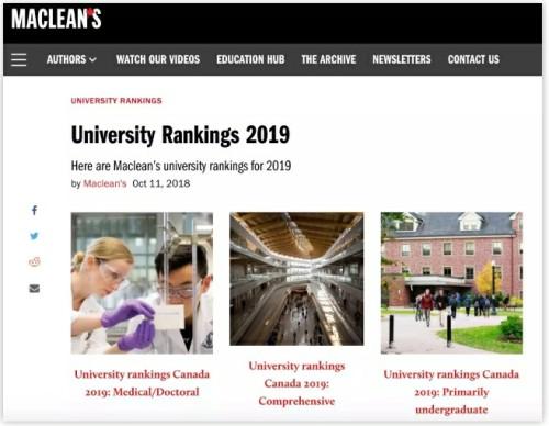 又一份2019年度加拿大大学排名榜单来袭,西蒙菲莎大学好样的