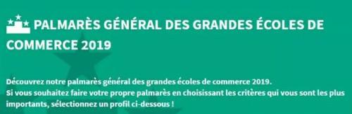 最新!2019年《I'Etudiant》法国高商排名出炉!
