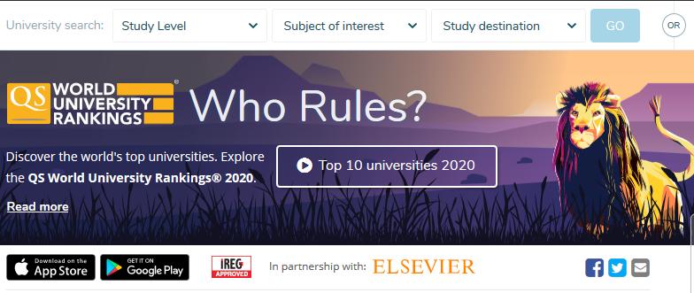 2020年QS世界大学TOP 100大学名单及雅思成绩要求