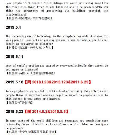 2019年1-8月雅思考试作文统计分析(至8月1日考试)