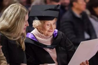 墨大90岁获硕士毕业生:如果你想学习,永远不会晚!