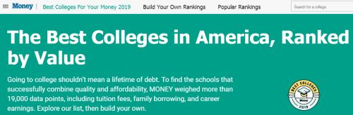 2019年《Money》美国大学性价比排名!它居然是首位?!