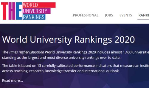 最新!2020THE泰晤士世界大学德国榜单:慕尼黑勇夺第一!