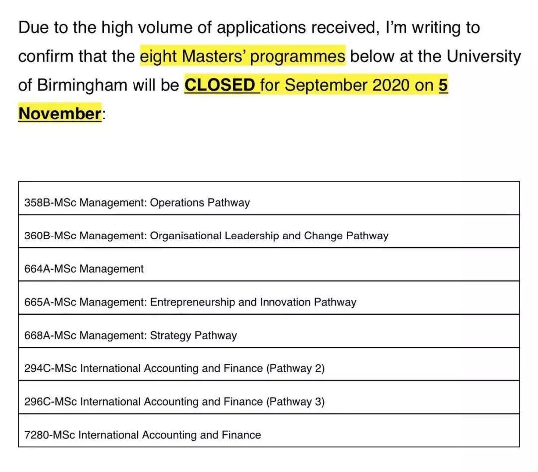 重要!英国多所大学官宣2020年申请将提前关闭!