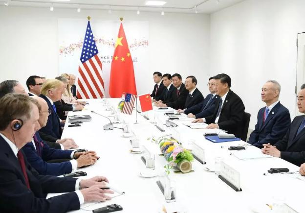 國家主席習近平同美國總統特朗普在大阪舉行會晤