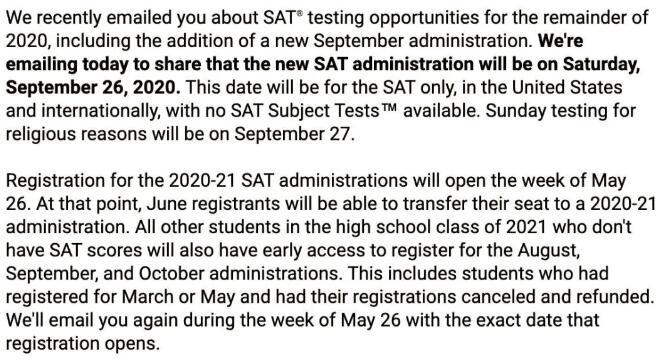 疫情,SAT考试,国际考场,SAT线上考试