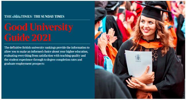 2021年泰晤士报(TIMES)英国大学综合排名